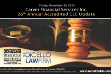 The DiCello Law Firm Is Co-Sponsoring The Carver Financial 26th Annual CLE Update